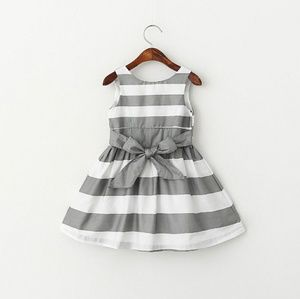 Toddler Girl Silver Striped A-line Jackie Dress